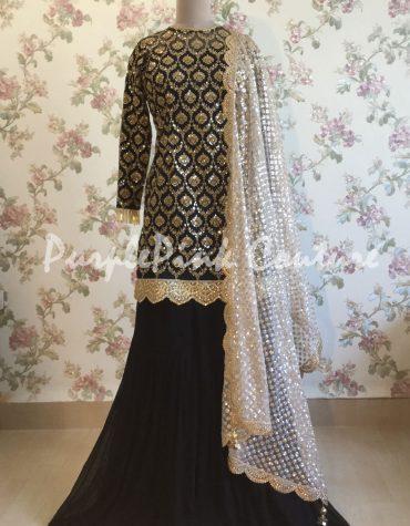 Forever Trendy Black Sharara