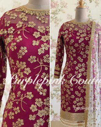 Majestic Magenta Punjabi Suit
