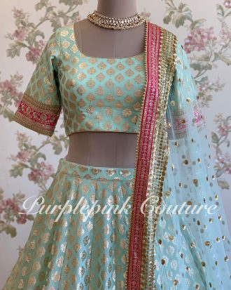Marina Chanderi Foil Weaving Lehenga Choli