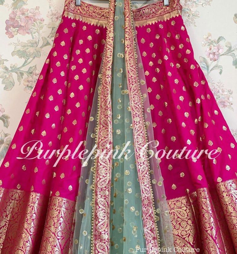 Rani Hot Pink Banarasi Lehenga Choli