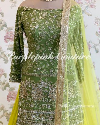 Noreen Intricate Sequins Embroidered Georgette Base Sharara Set