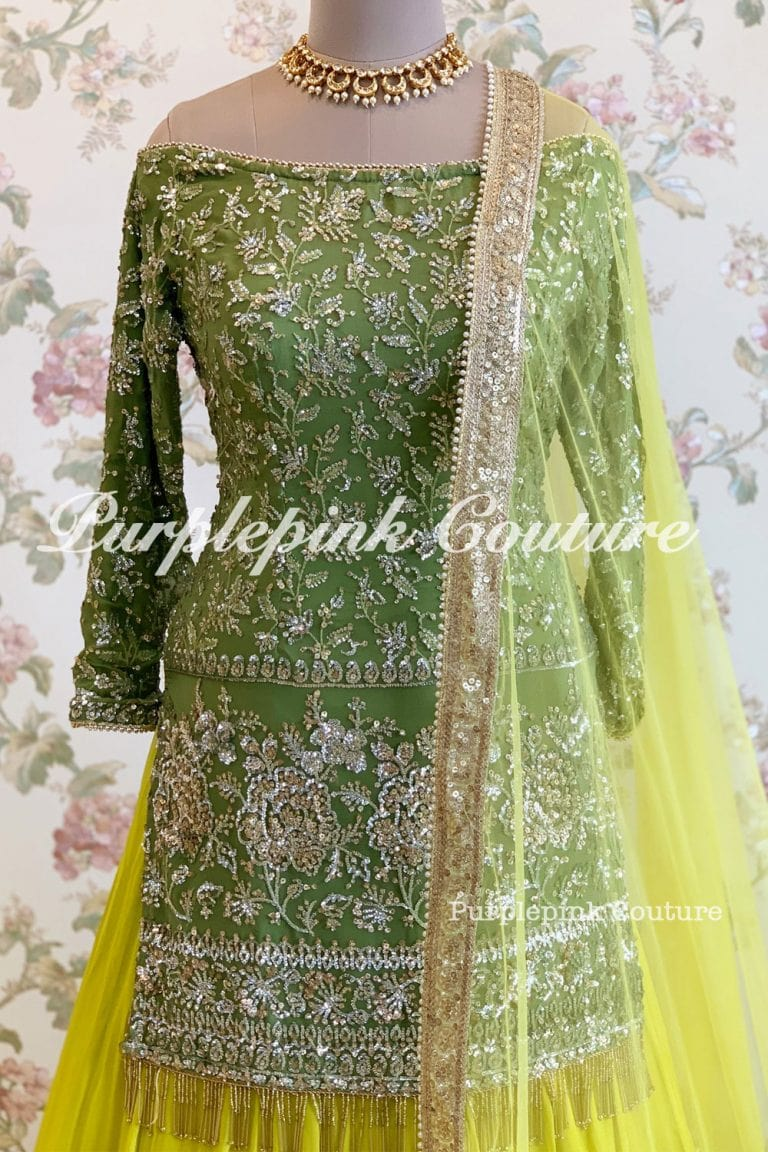Intricate Sequins Embroidered Georgette Base Sharara Set