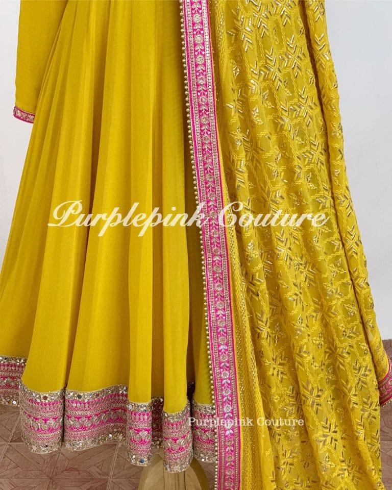 Yellow Pink Anarkali
