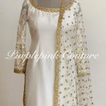 Ivory Gold Silk Suit Set