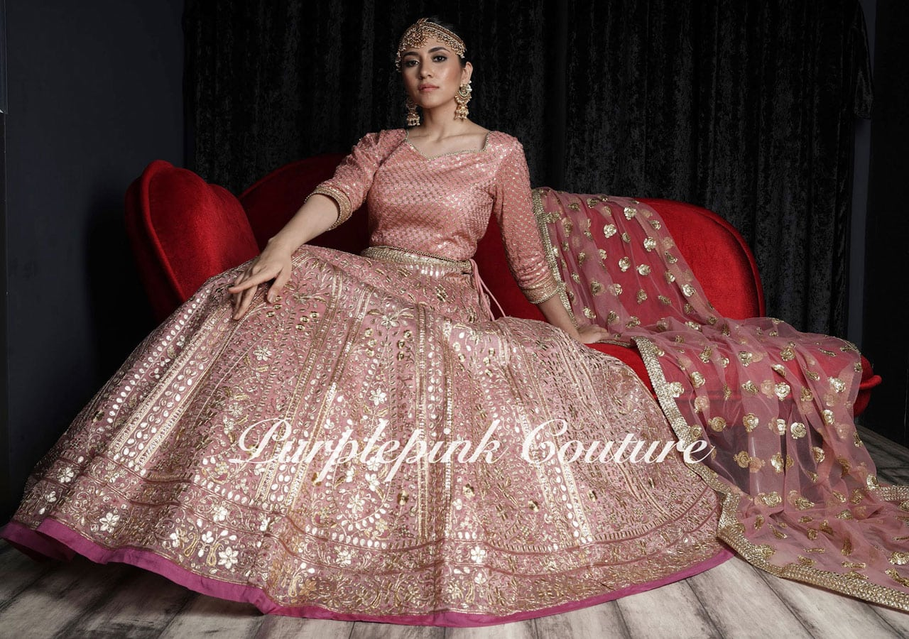 Mehereen Silk Base Gota Work Lehenga Choli