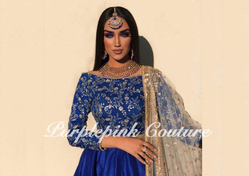 Marjan Royal Blue Short Anarkali