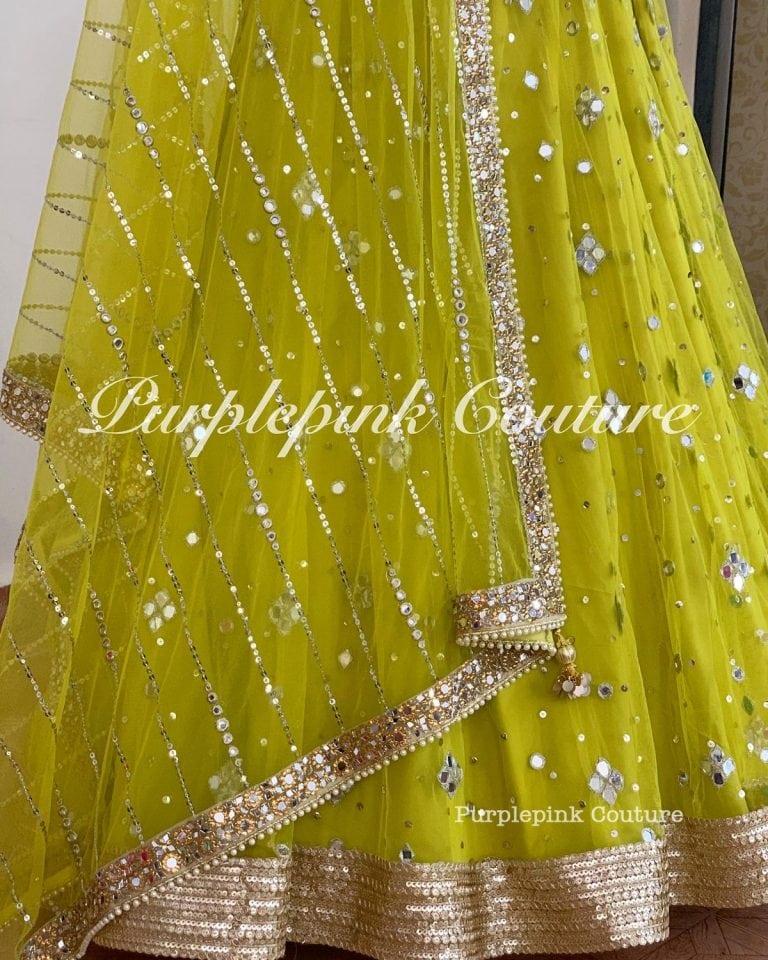 Chandni Hand Embroidered Mirror Work Lehenga Choli