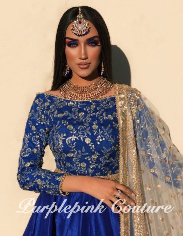 Marjan Royal Blue Short Anarkali
