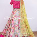 Bahar Georgette Floral Lehenga Hand Embroidered Choli