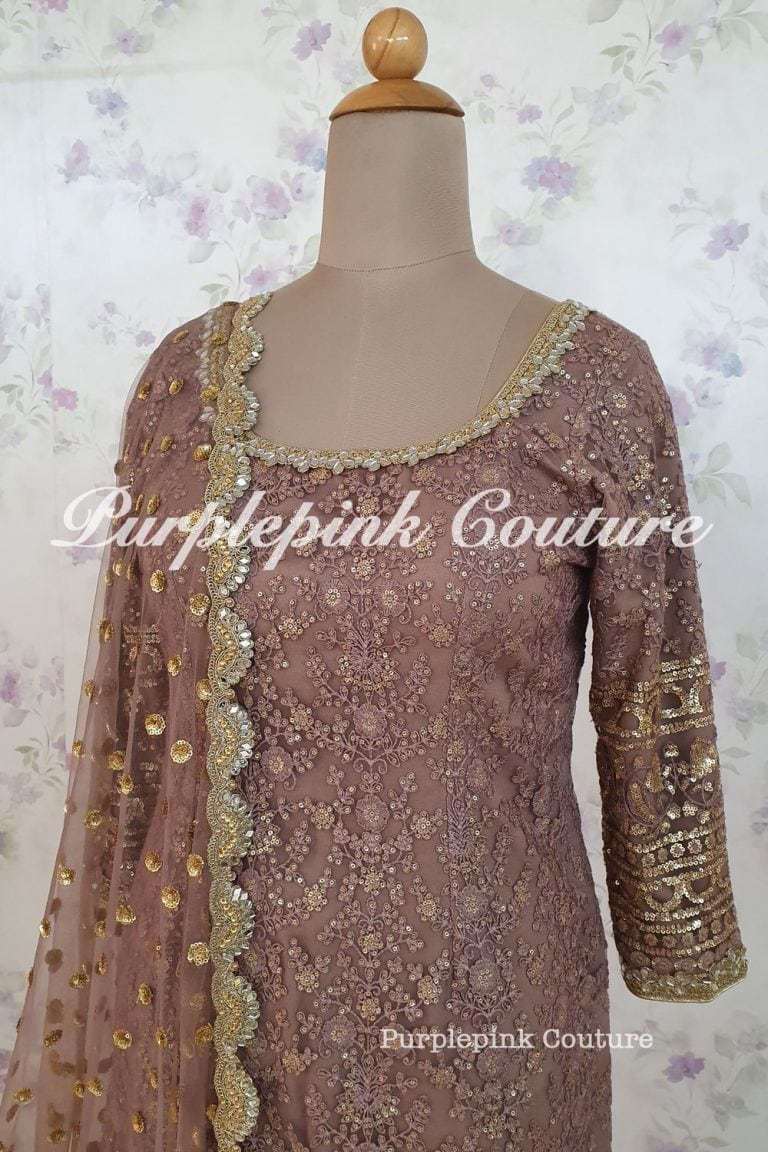 Thin Thread Sequins Embroidered Suit