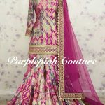 Meenaz Sharara Set Pure Silk Banarsi Tie and Dye Work Fabric Net Dupatta
