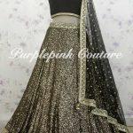 Black Georgette Heavy Sequins Embroidered Lehenga Choli