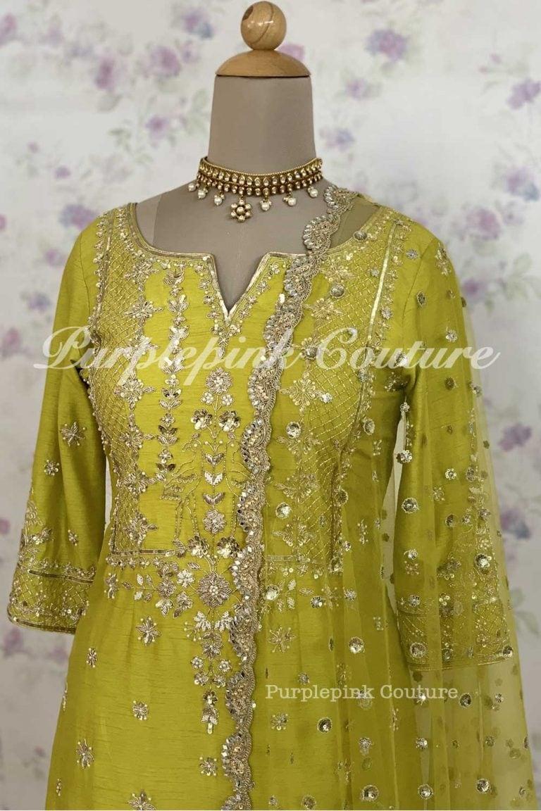 Aaina Silk Hand Embroidered Suit Patiyala Salwar