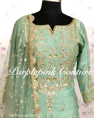 Aaina Silk Hand Embroidered Suit Patiyala Salwar