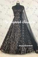 Black Sequins Lehenga Choli