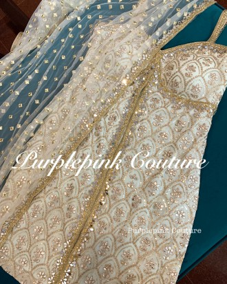 Brunneara Georgette Base Suit Foil Mirror Work Net Foil Mirror Work Dupatta