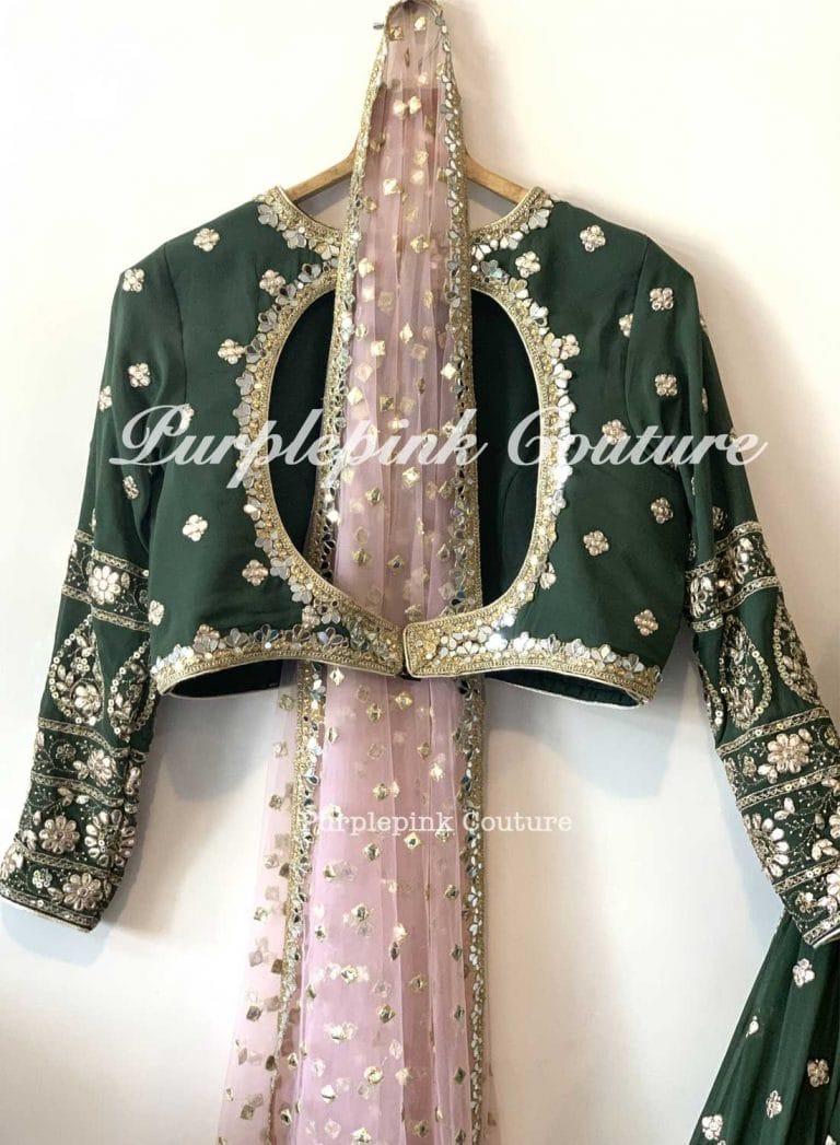 African Pearl Beautiful Foil Mirror Work Sequins Embroidered Georgette Lehenga Choli