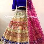 Rangeela Raw Silk Heavy Multi Coloured Lehenga Royal Blue Raw Silk Choli Net Booti Dupatta