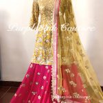 Rafat Yellow Pink Georgette Heavy Embroidered Sharara Set