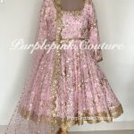 Laila Baby Pink Georgette Heavy Embroidered Short Anarkali